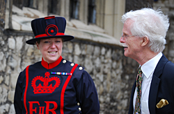 The first woman Yeoman Warder at The Tower of London