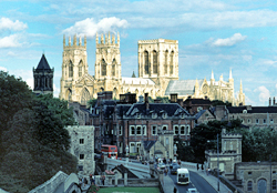 The city of York is dominated by the Minster